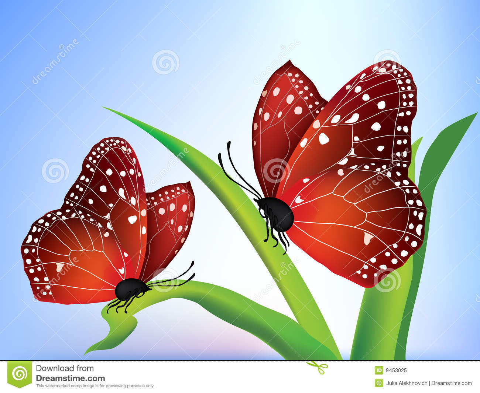 πεταλούδες δύο διάνυσμα