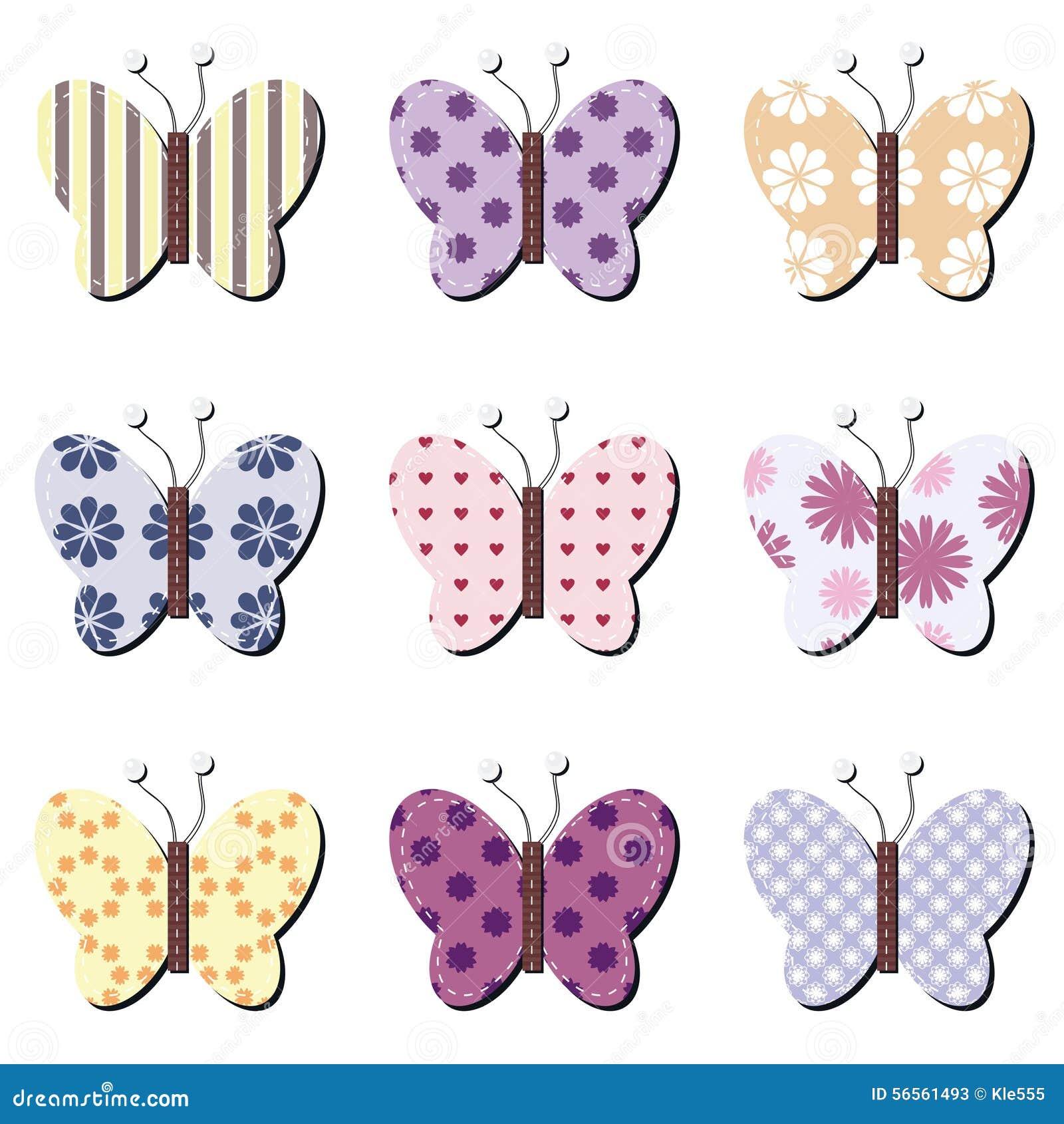 Download Πεταλούδες λευκώματος αποκομμάτων στο λευκό Απεικόνιση αποθεμάτων - εικονογραφία από πόλκα, νήμα: 56561493