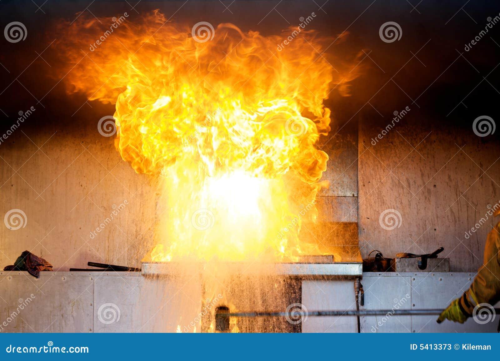 πετρέλαιο κουζινών πυρκαγιάς έκρηξης