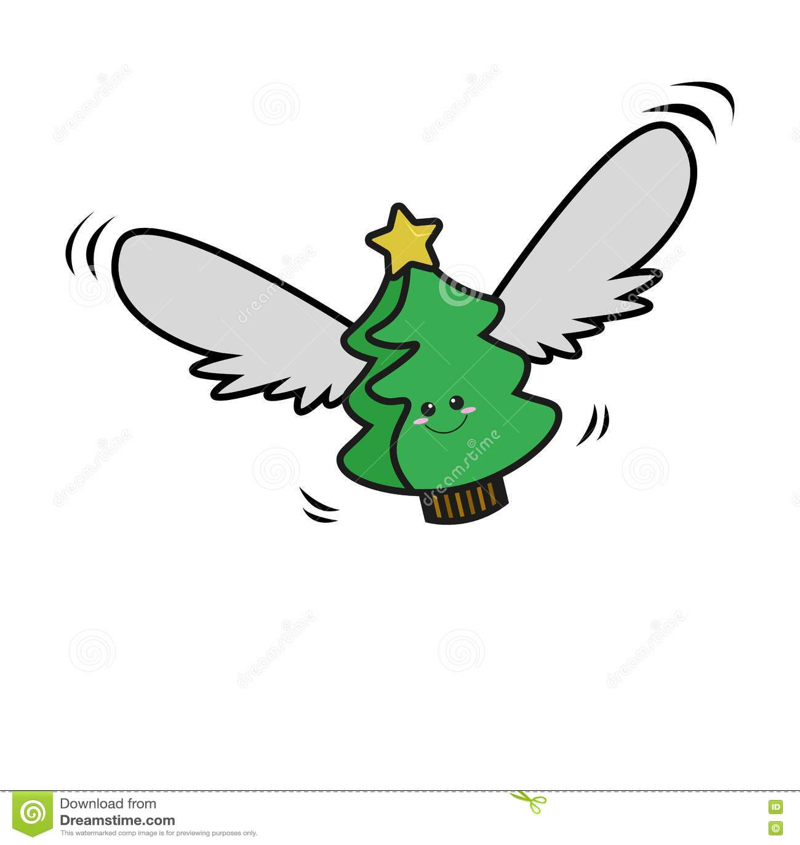 Πετώντας χριστουγεννιάτικο δέντρο