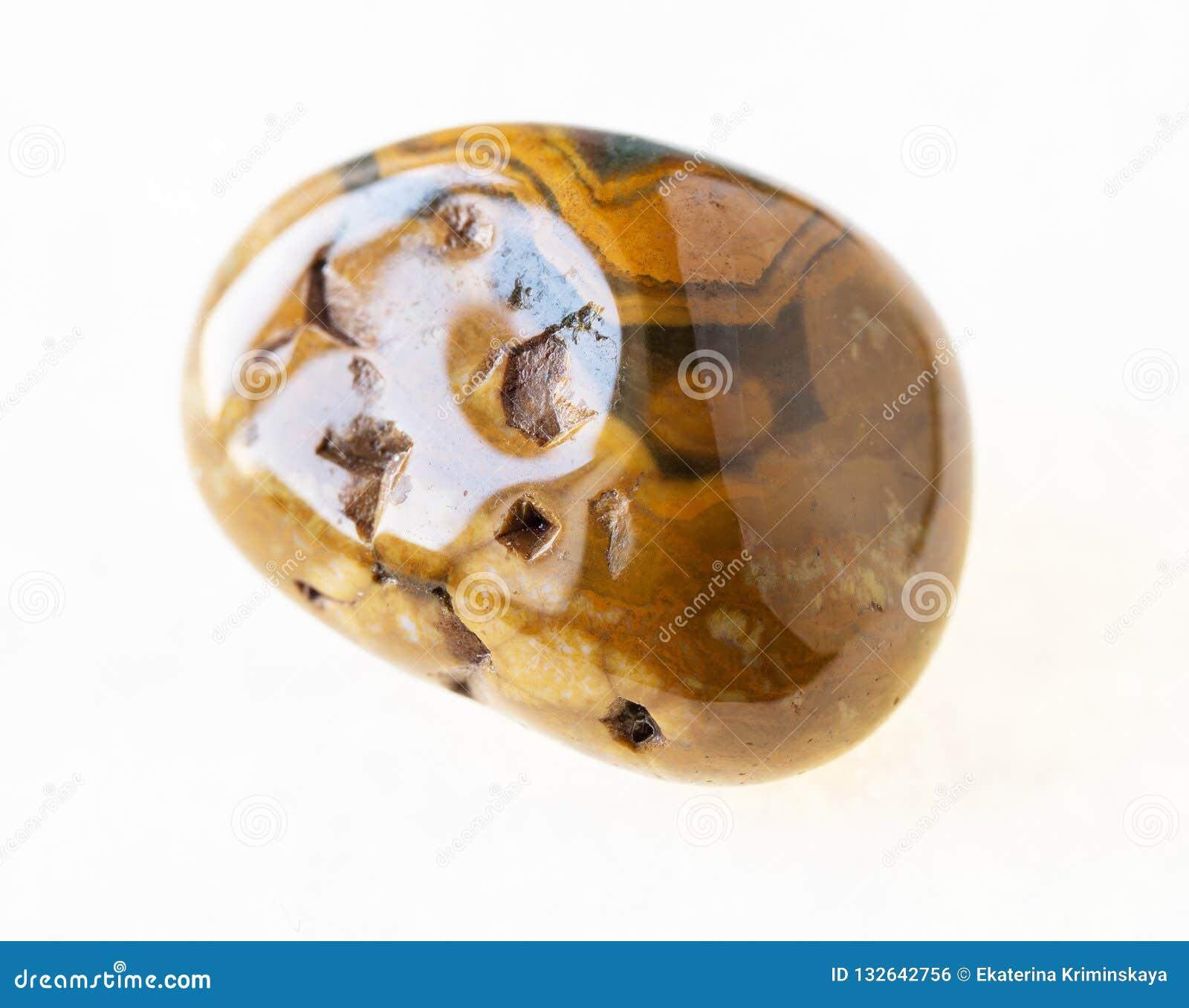 πεφμένη πέτρα ιασπίδων δερμάτων λεοπαρδάλεων (πέτρα ιαγουάρων)