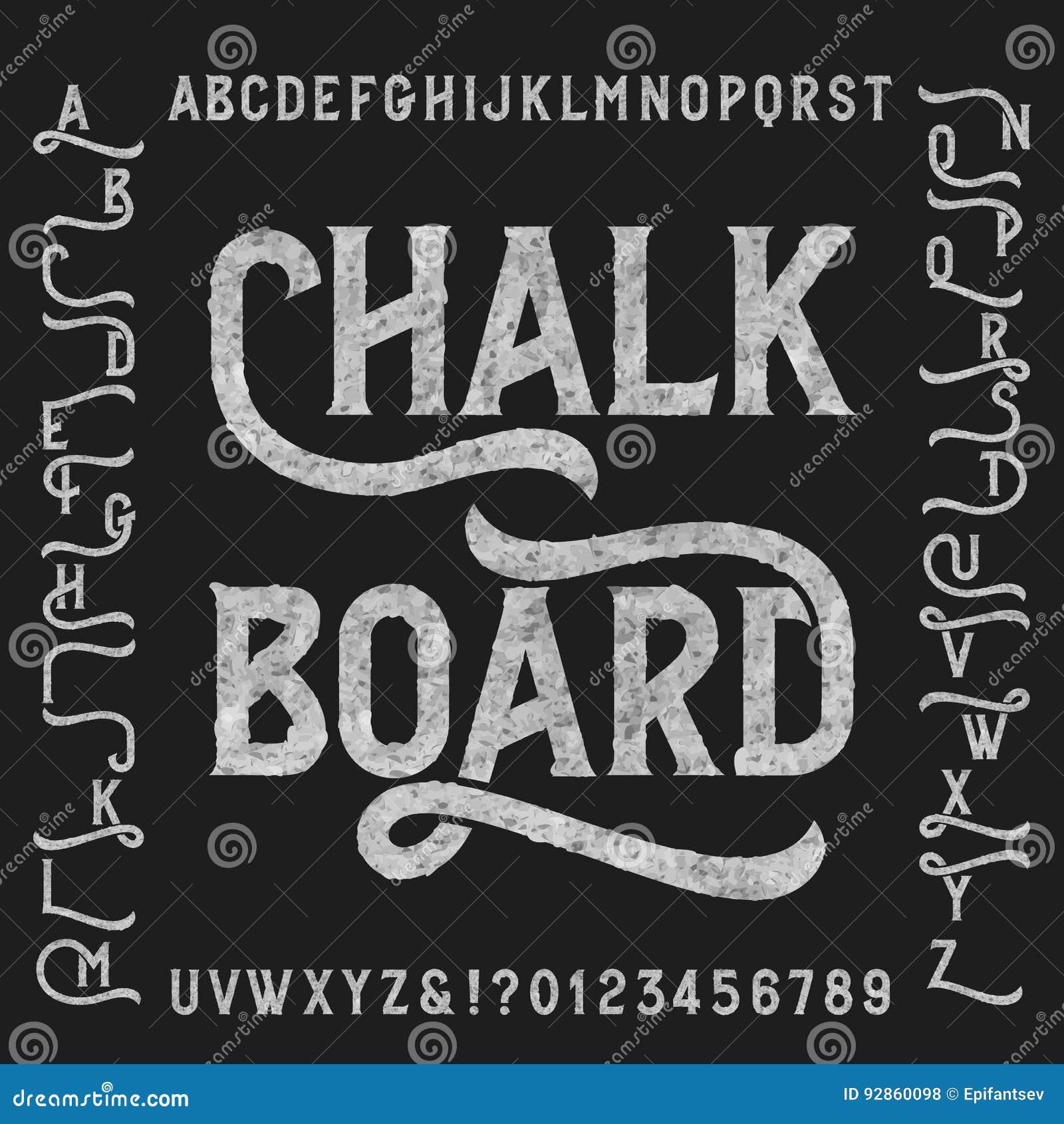 Πηγή αλφάβητου πινάκων κιμωλίας με τις εναλλαγές