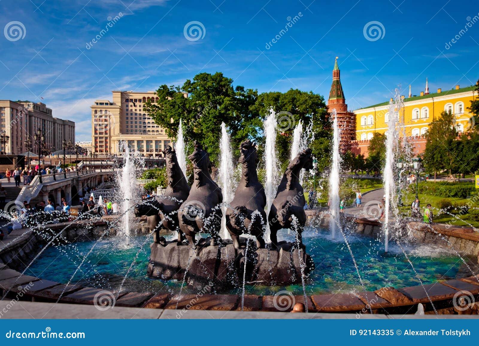Πηγή Four Seasons στην πλατεία Manezh στη Μόσχα, Ρωσία