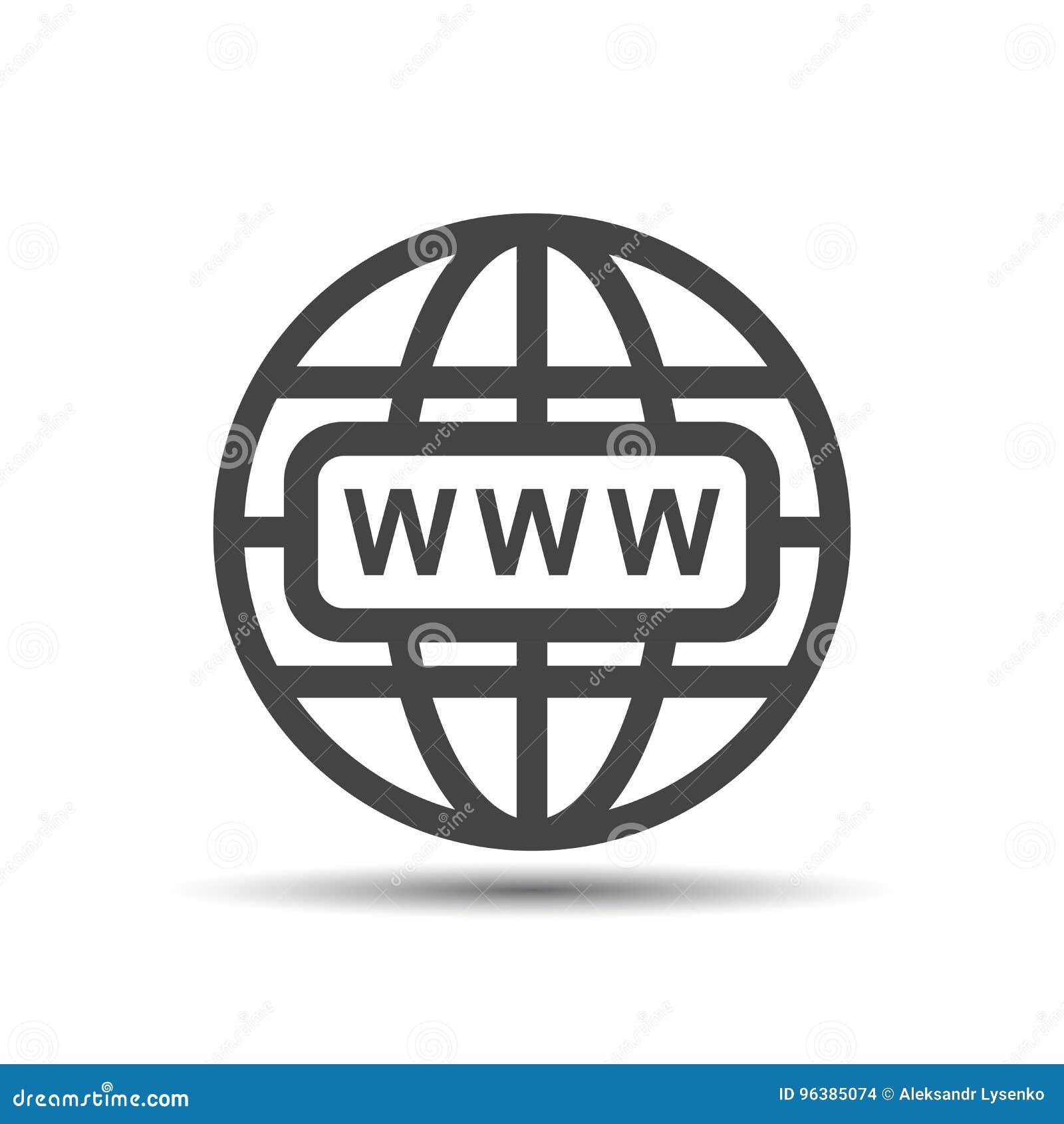 Πηγαίνετε στο εικονίδιο Ιστού Επίπεδη διανυσματική απεικόνιση Διαδικτύου για τον ιστοχώρο επάνω
