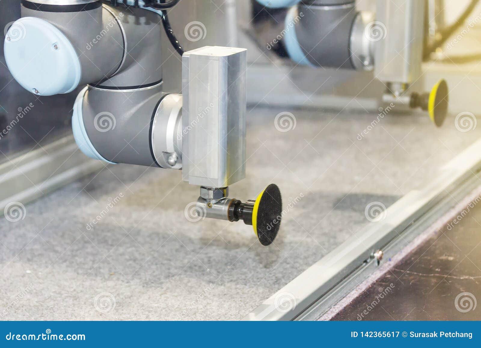 Πιάσιμο ρομπότ υψηλής τεχνολογίας και ακρίβειας με το αυτόματο κενό για το πιάτο γυαλιού σύλληψης ή το προϊόν στη διαδικασία παρα