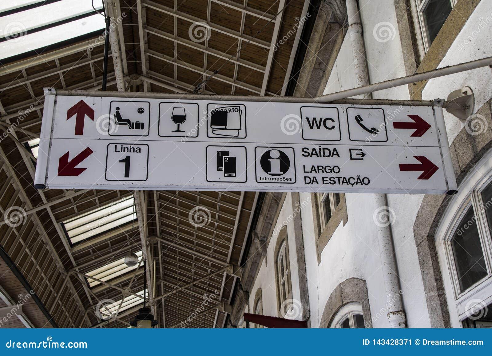 Πιάτο και πληροφορίες συστημάτων σηματοδότησης για τους τουρίστες