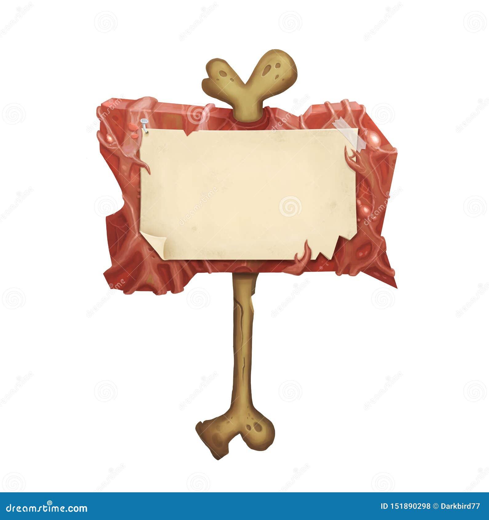 Πινακίδα αποκριών με το μμένο δέρμα και εκλεκτής ποιότητας έγγραφο για το παλαιό κόκκαλο