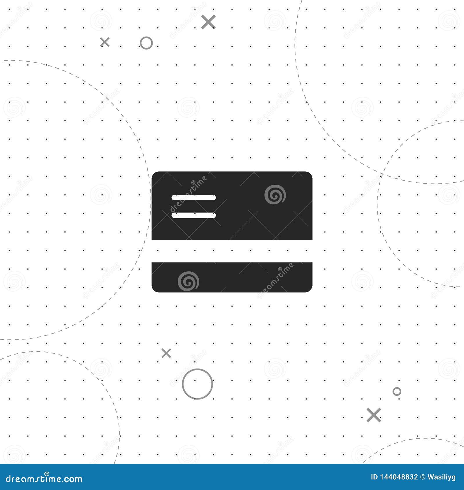 Πιστωτική κάρτα, διανυσματικό καλύτερο επίπεδο εικονίδιο