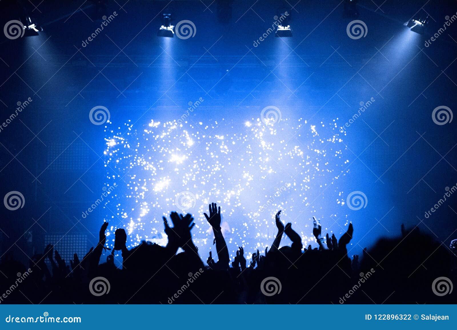 Πλήθος σε μια συναυλία μουσικής