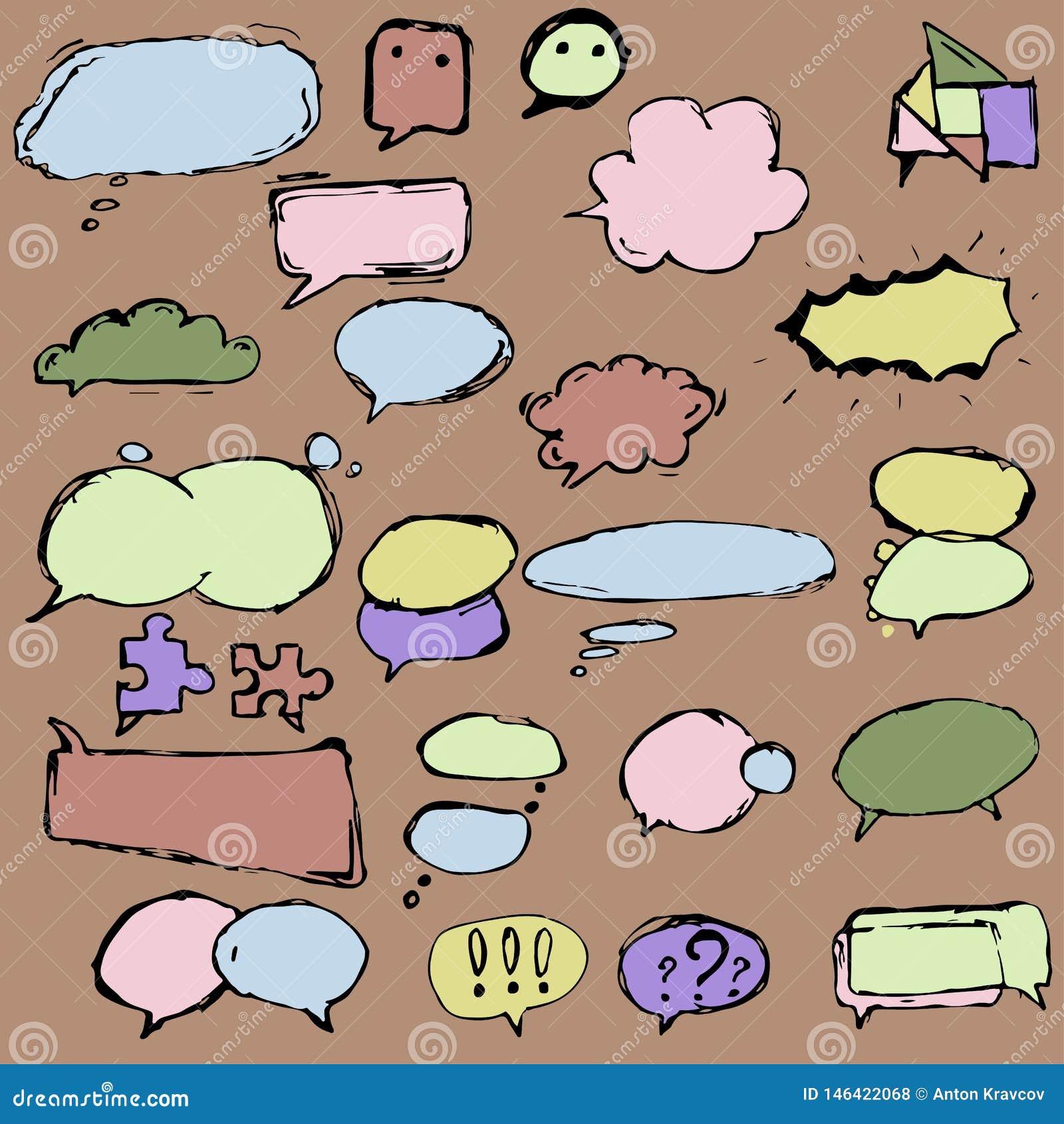 Πλαίσια και μπαλόνια διαλόγου στις διαφορετικές μορφές