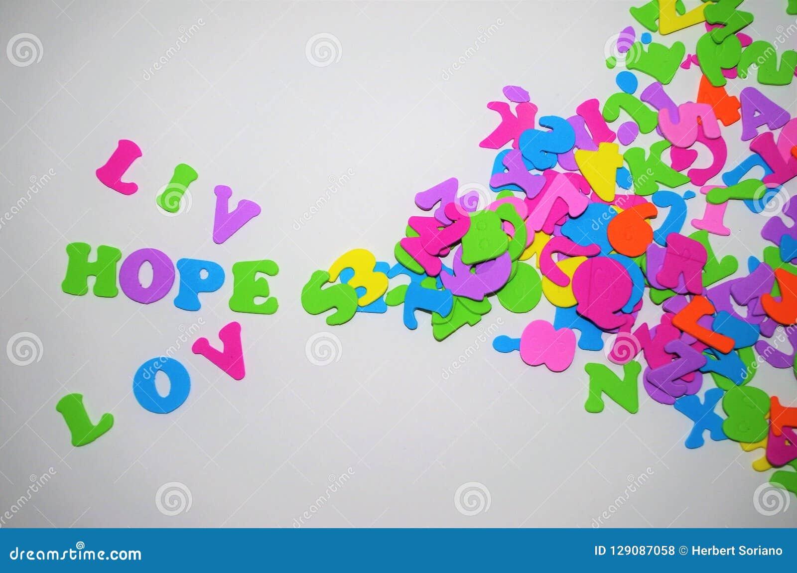 Πλαίσιο αγάπης για το γράψιμο ενός διαστήματος μηνυμάτων για το γράψιμο της ζωντανής ελπίδας