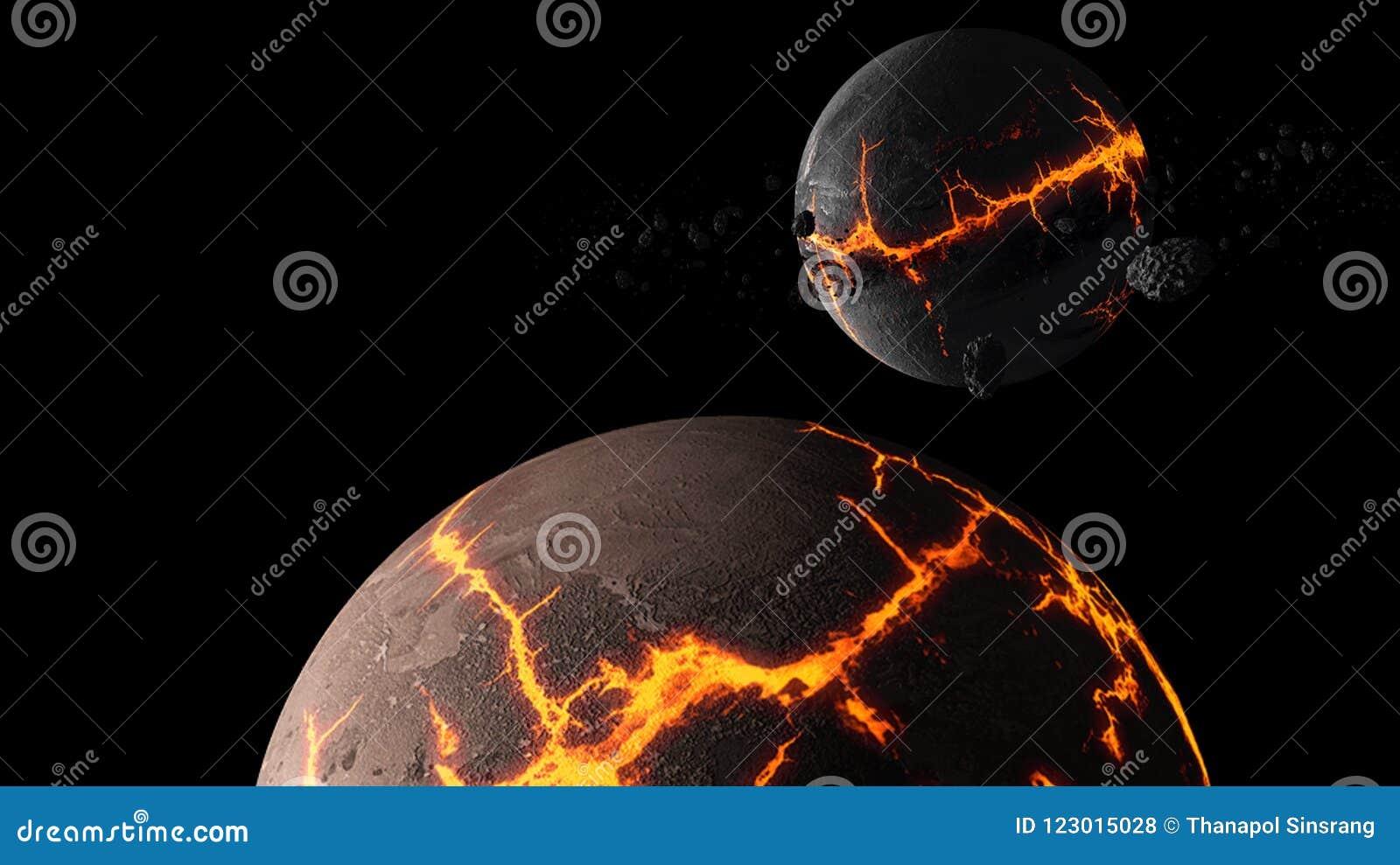 Πλανήτες και γαλαξίας, ταπετσαρία επιστημονικής φαντασίας Ομορφιά του βαθιού διαστήματος