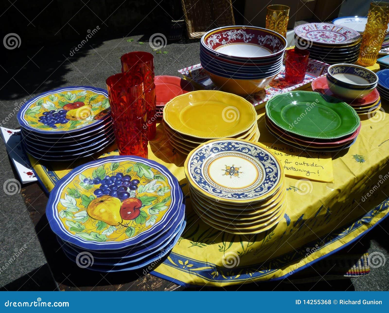 πλαστική πώληση πιάτων