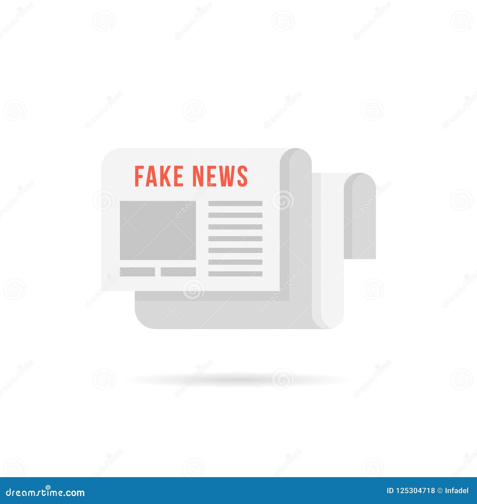 Πλαστό λογότυπο ειδήσεων όπως την εφημερίδα με τη σκιά