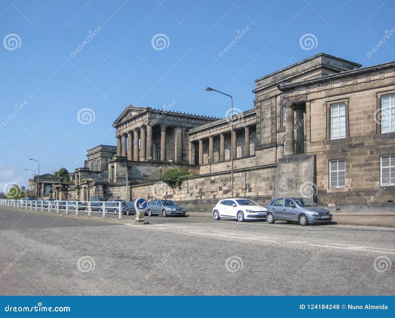 Πλευρική άποψη προοπτικής του παλαιού βασιλικού γυμνασίου, Εδιμβούργο