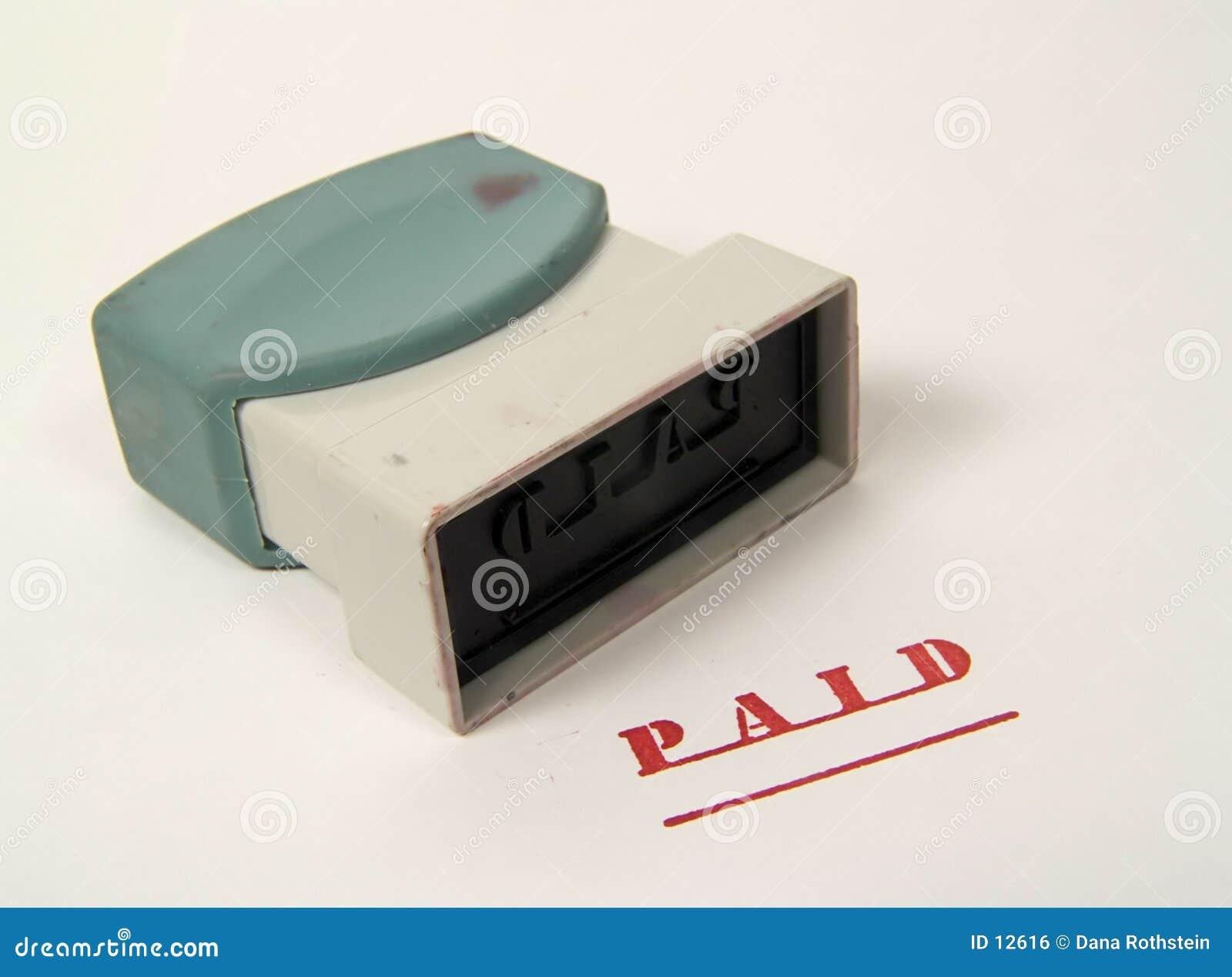 πληρωμένο γραμματόσημο