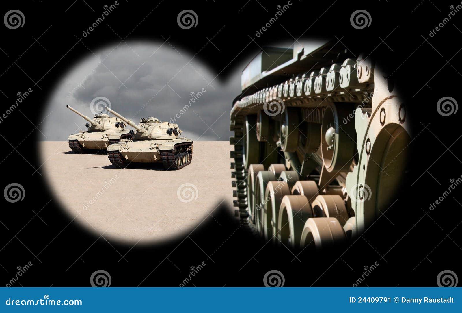 πλησιάζοντας δεξαμενές διοπτρών στρατού