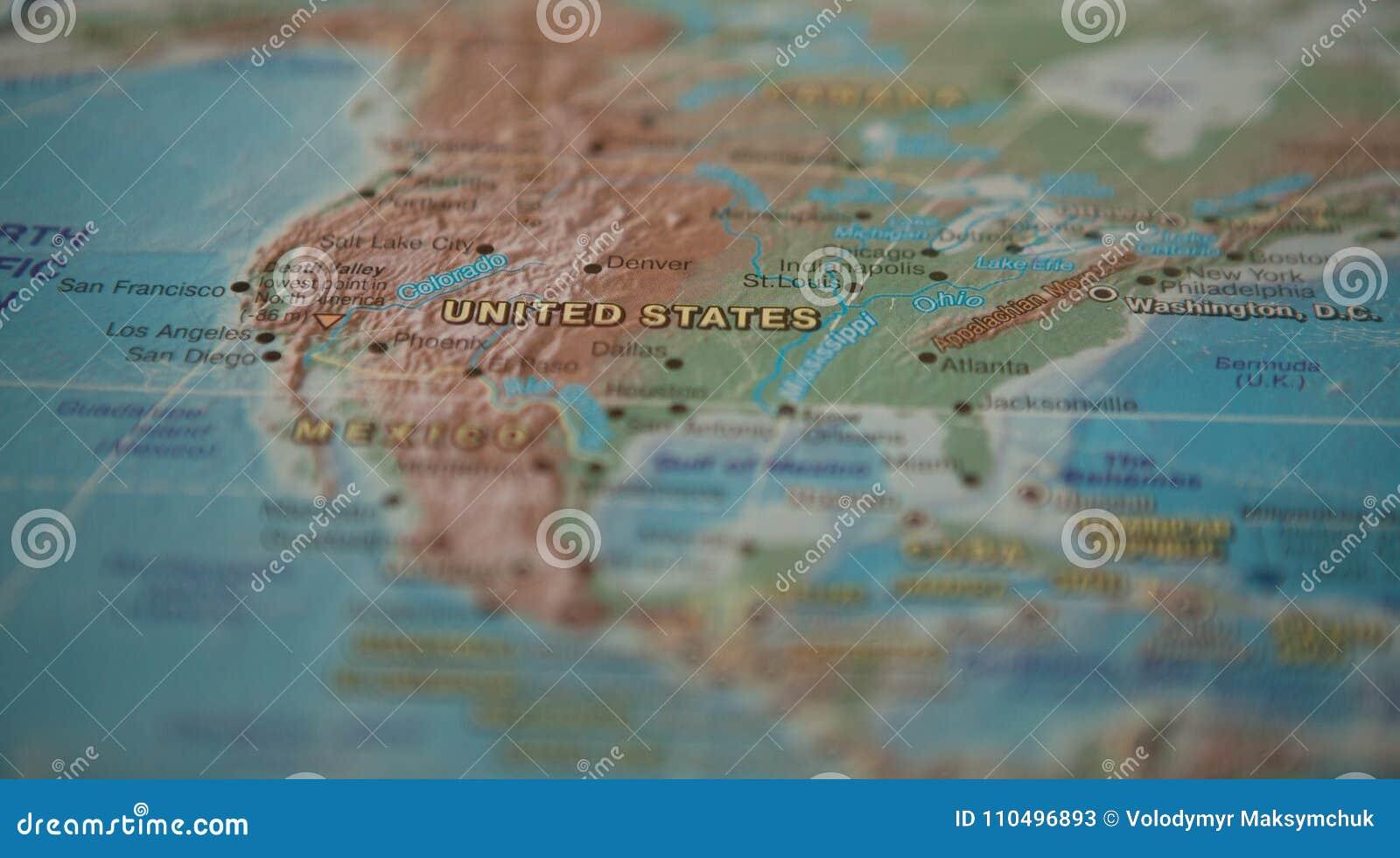 Πολιτεία στο χάρτη Οι Ηνωμένες Πολιτείες χάρτης του κόσμου