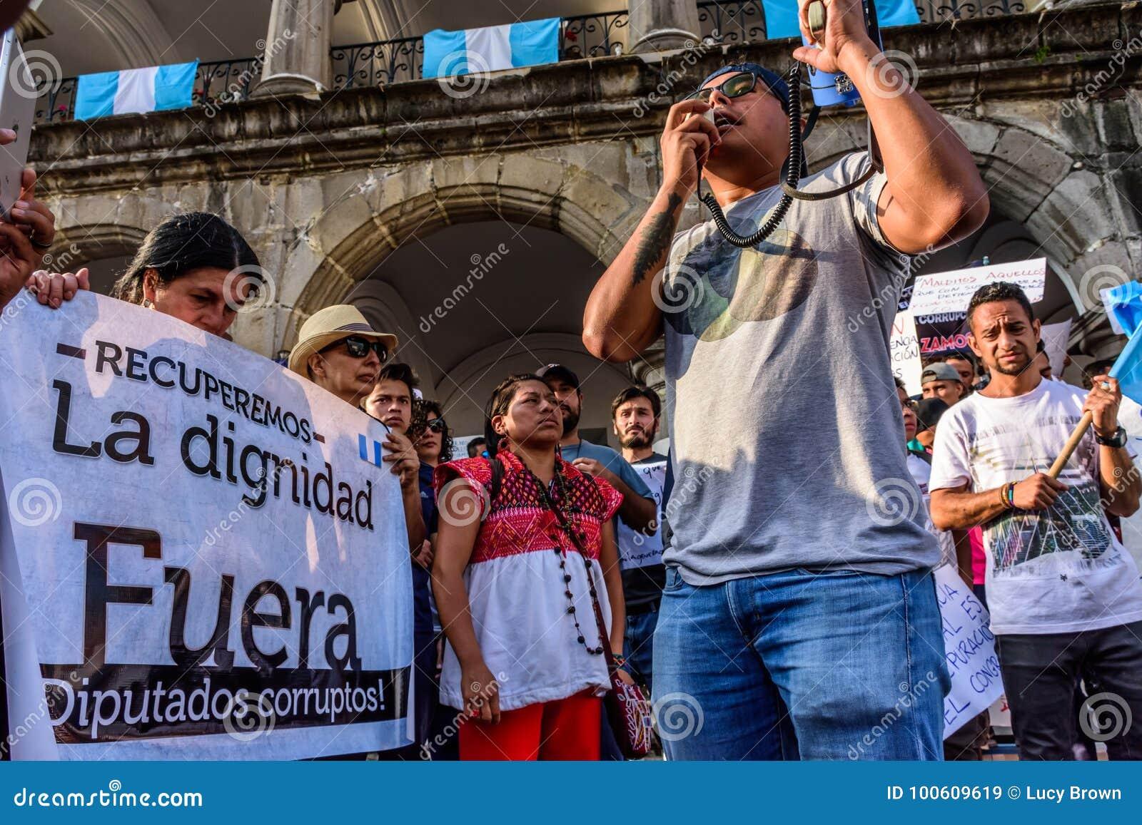 Πολιτικές διαμαρτυρίες, Αντίγκουα, Γουατεμάλα