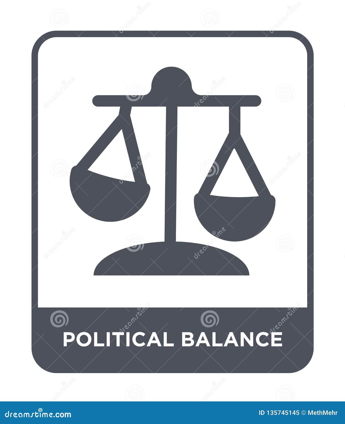 πολιτικό εικονίδιο ισορροπίας στο καθιερώνον τη μόδα ύφος σχεδίου πολιτικό εικονίδιο ισορροπίας που απομονώνεται στο άσπρο υπόβαθ