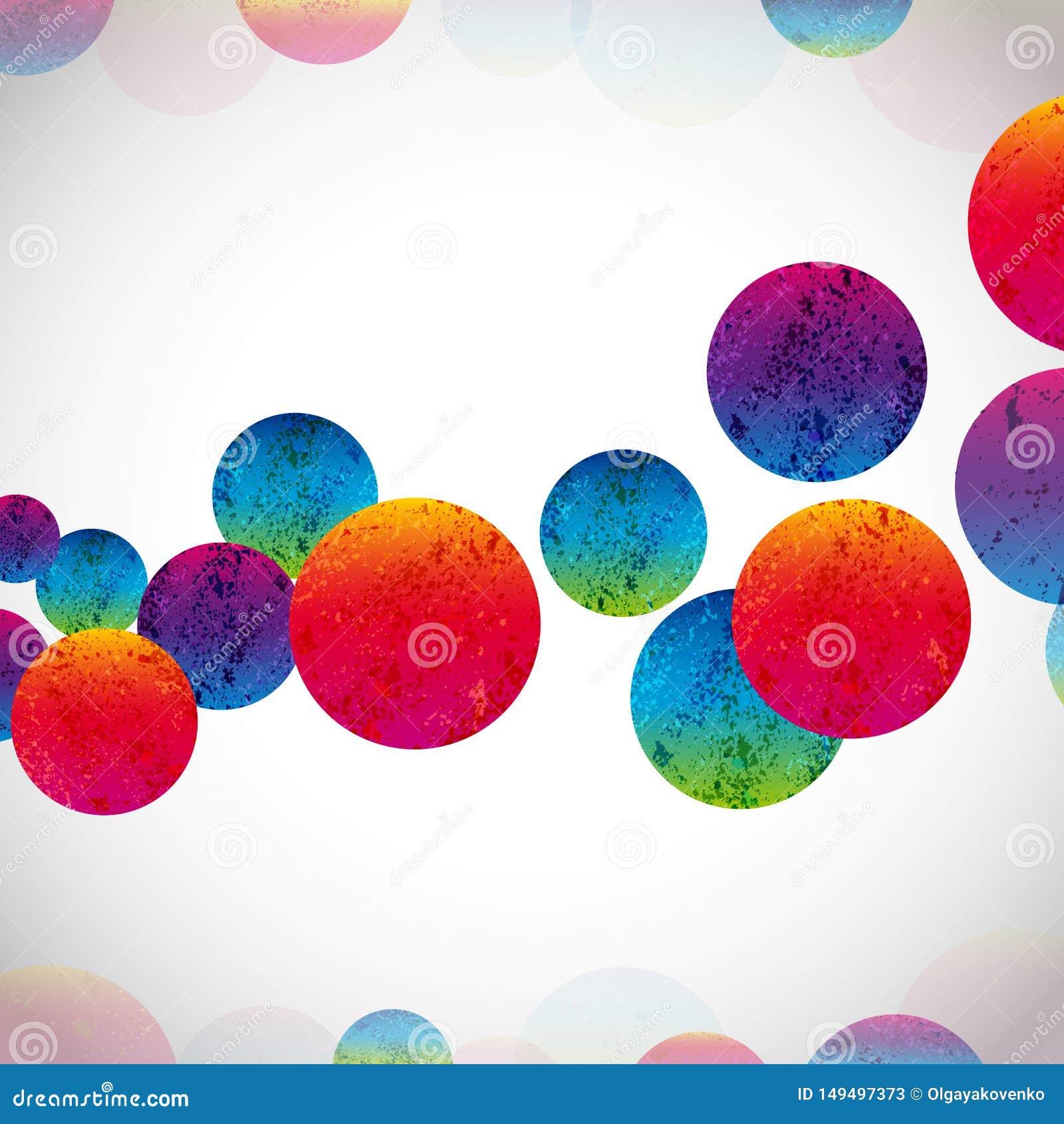 Πολύχρωμο αφηρημένο φωτεινό υπόβαθρο Στοιχεία κύκλων για το σχέδιο EPS10