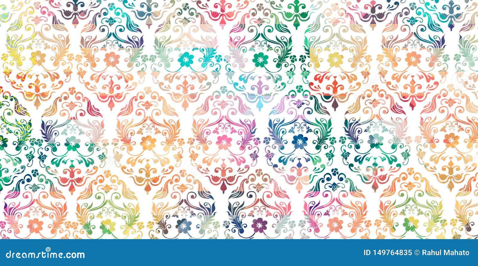 Πολύχρωμο ψηφιακό ντεκόρ κεραμιδιών τοίχων για το εσωτερικό σπίτι, ταπετσαρία, λινέλαιο, webpage, υπόβαθρο, απεικόνιση