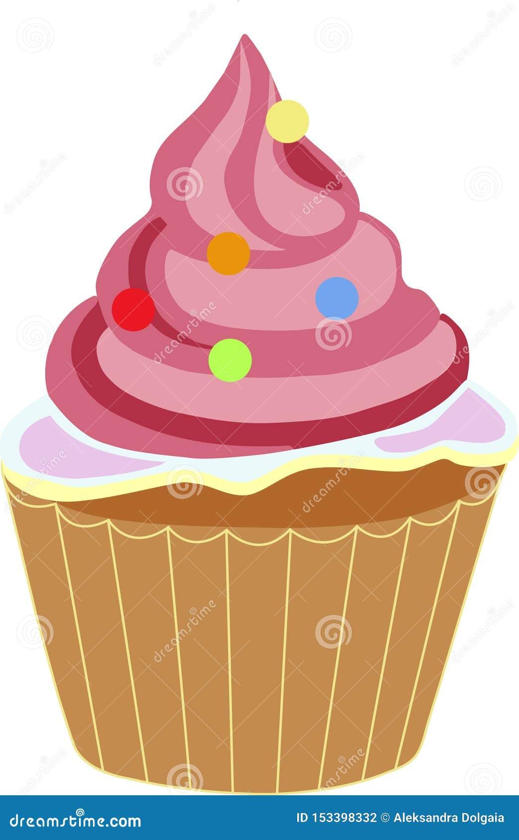 Πολύχρωμο Cupcake αυξήθηκε