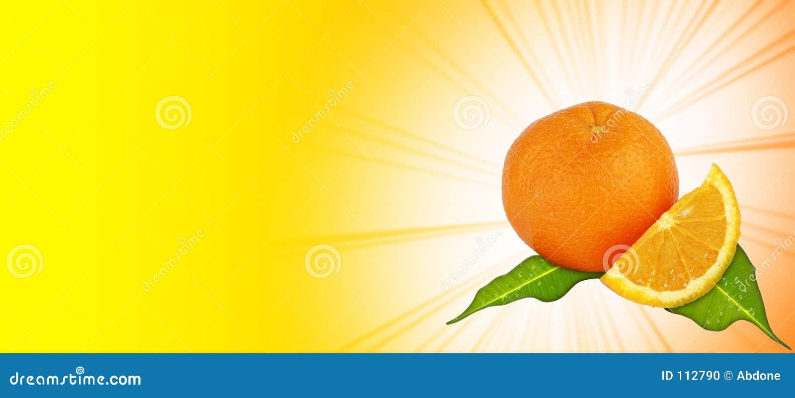 πορτοκάλι ανασκόπησης κίτρινο