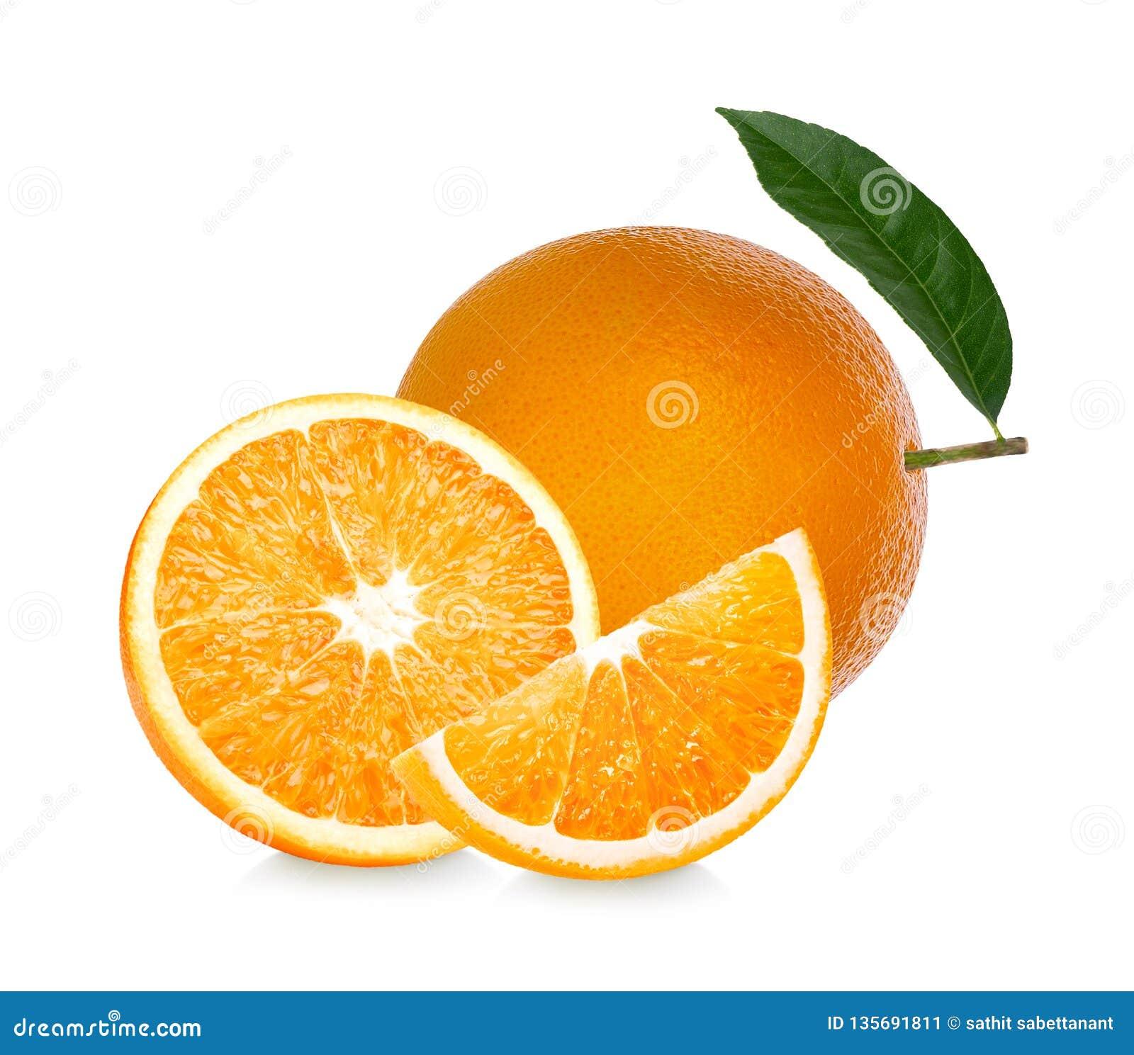 Πορτοκαλής καρπός Η πορτοκαλιά φέτα απομονώνει στο άσπρο υπόβαθρο