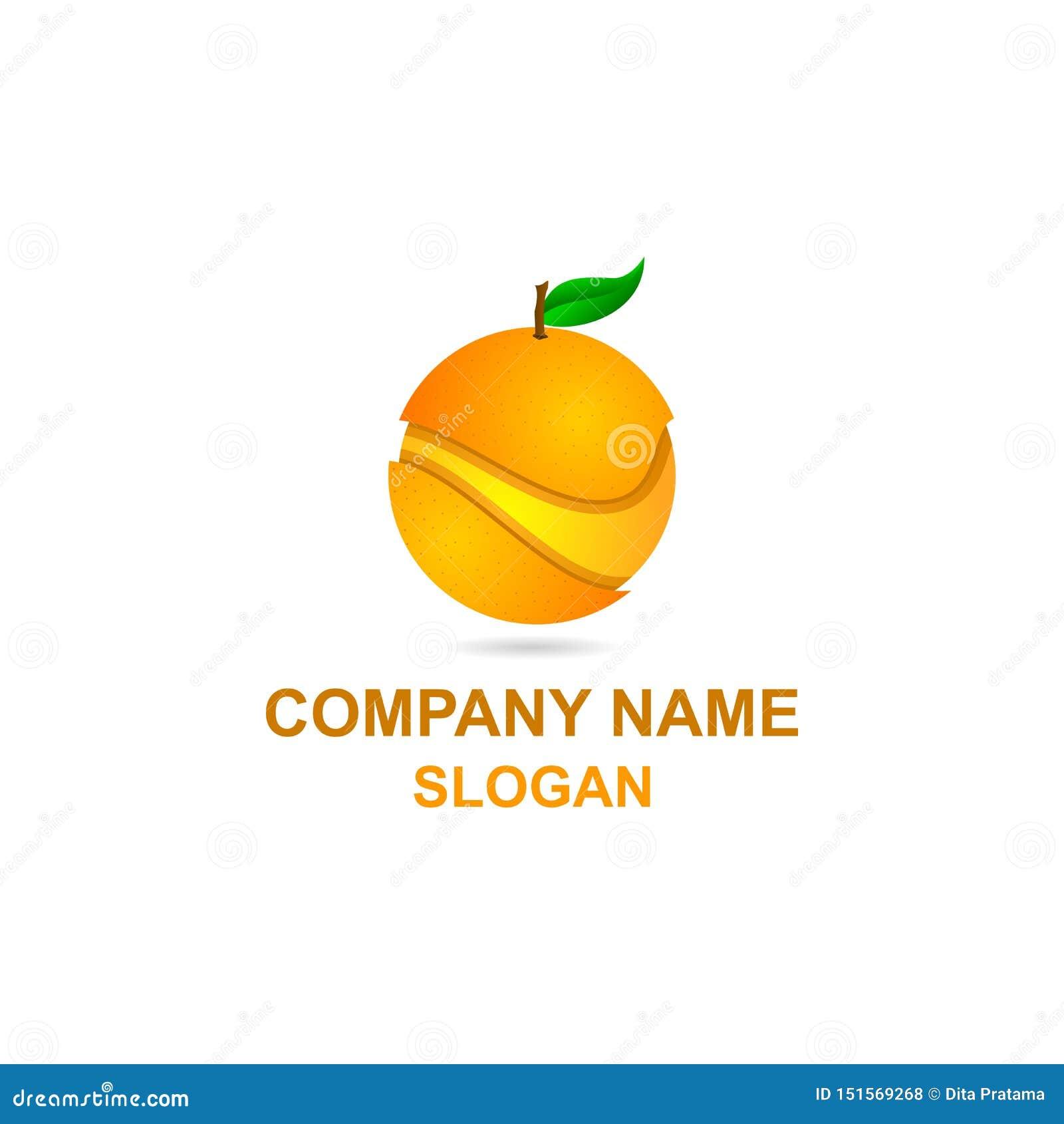 Πορτοκαλί λογότυπο φετών φρούτων