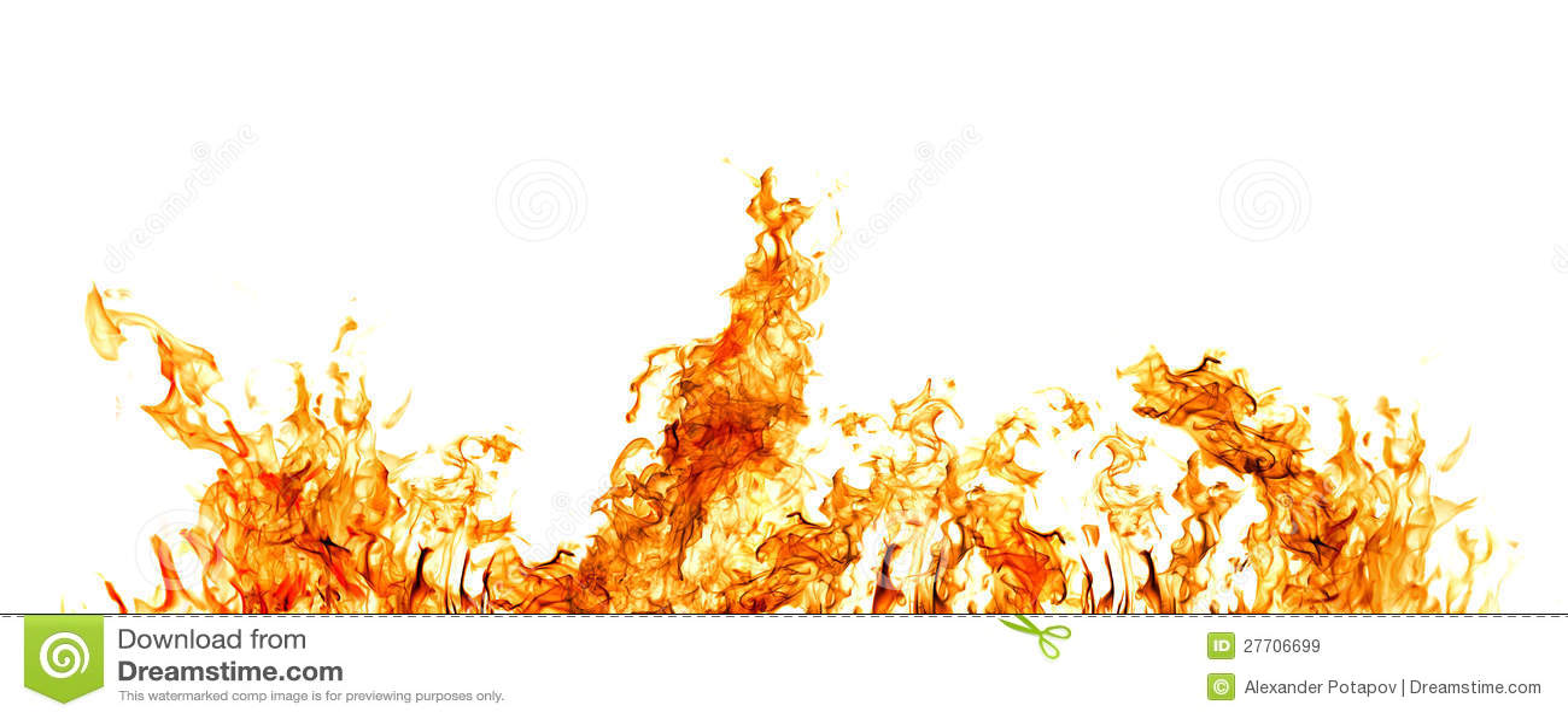 Πορτοκαλί λωρίδα πυρκαγιάς που απομονώνεται στο λευκό