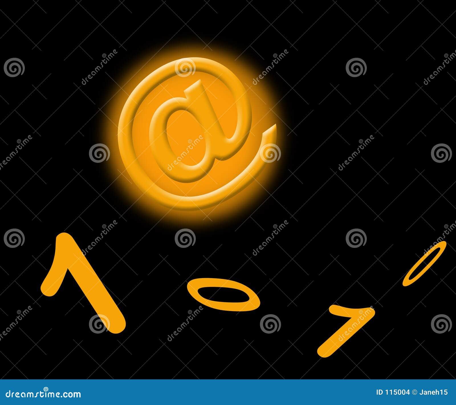 πορτοκαλί σημάδι αριθμών τ&al