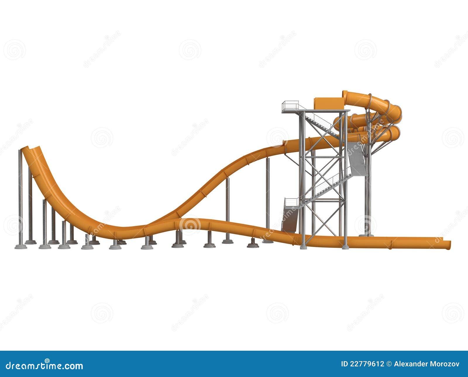 πορτοκαλί waterslide