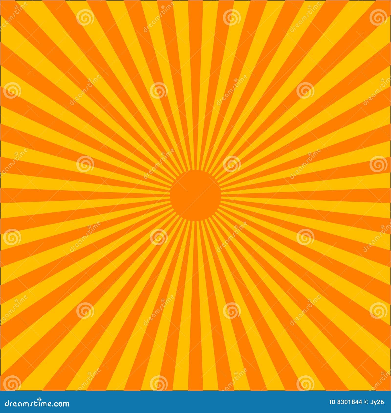 Πορτοκαλιά έκρηξη ακτίνων