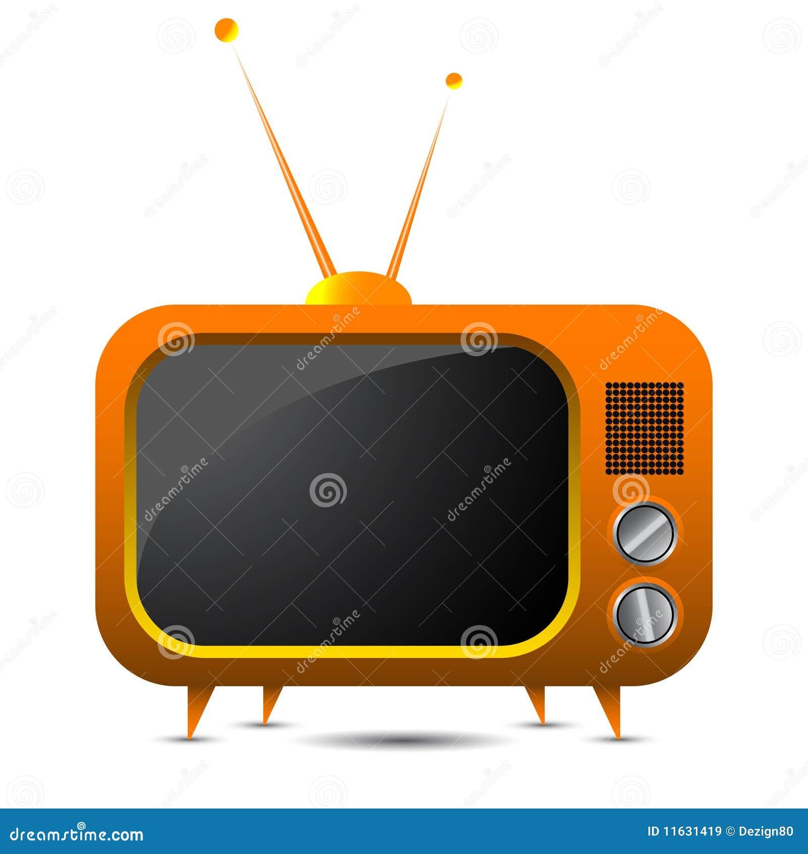 Πορτοκαλιά αναδρομική TV