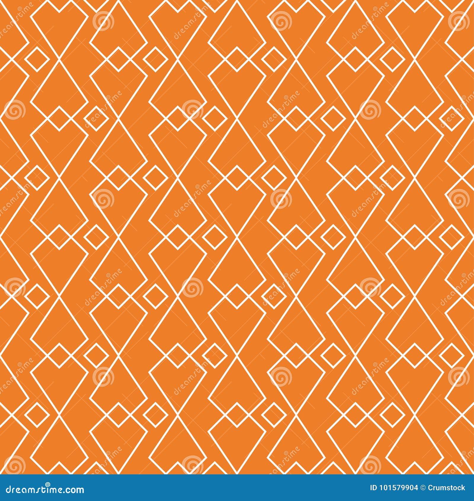 Πορτοκαλιά γεωμετρική διακόσμηση πρότυπο άνευ ραφής
