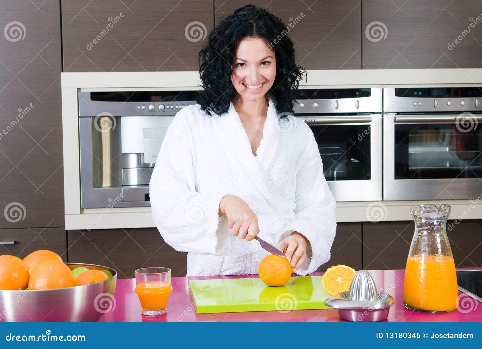 πορτοκαλιά γυναίκα χυμ&omicro