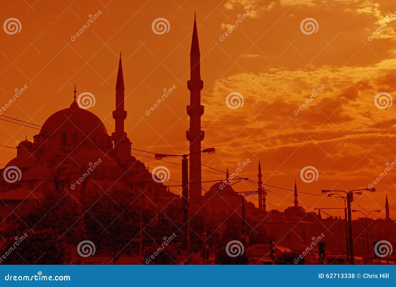 Πορτοκαλής ορίζοντας της Ιστανμπούλ