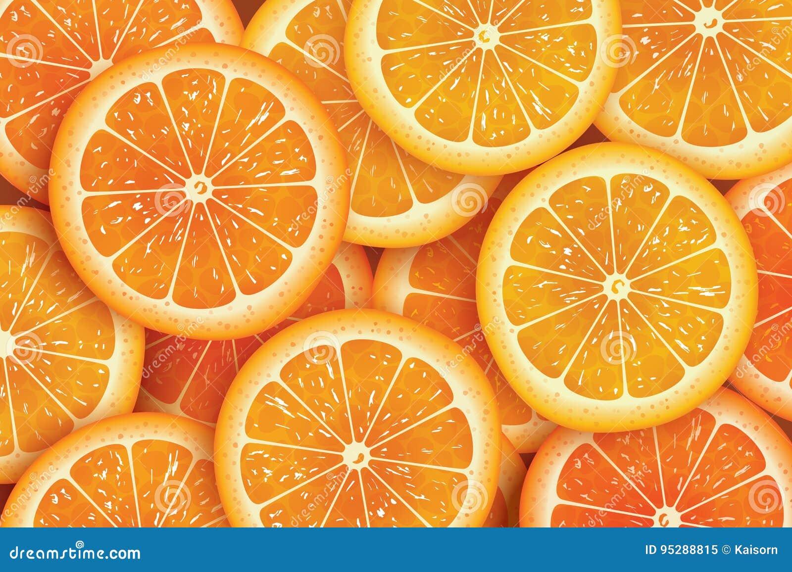 Πορτοκαλί υπόβαθρο φετών για το καλοκαίρι