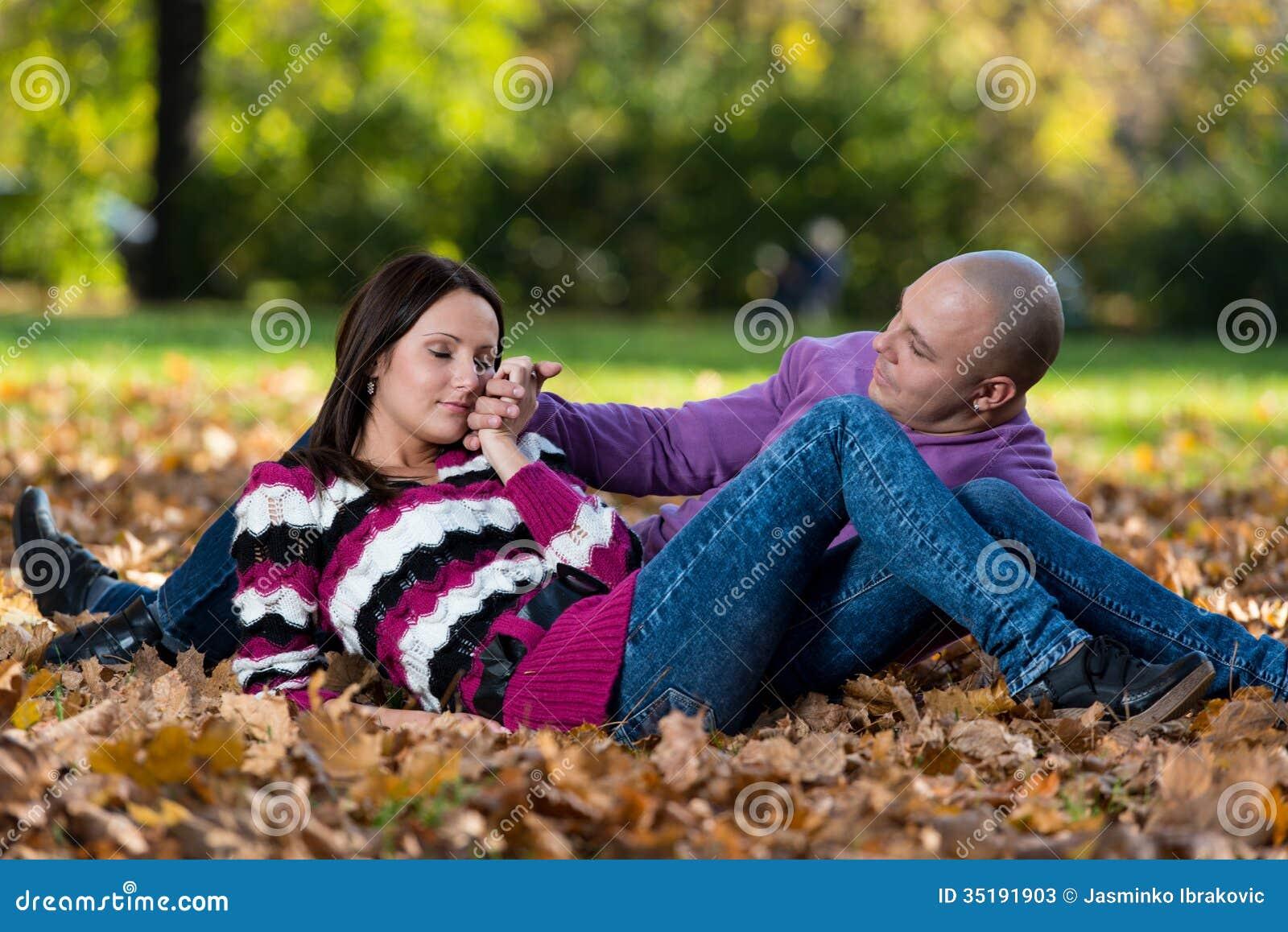 Πορτρέτα ζεύγους φθινοπώρου
