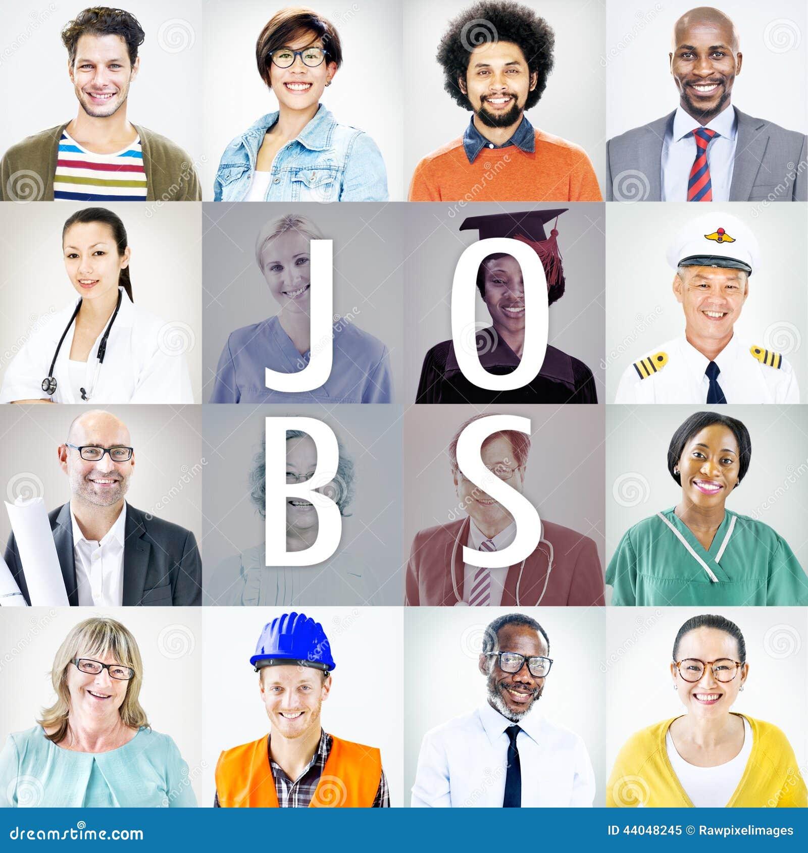 Πορτρέτα των διαφορετικών ανθρώπων με τις διαφορετικές εργασίες