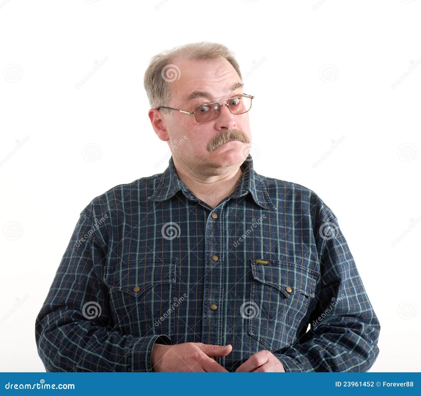 Πορτρέτο ενός ηληκιωμένου με τα γυαλιά