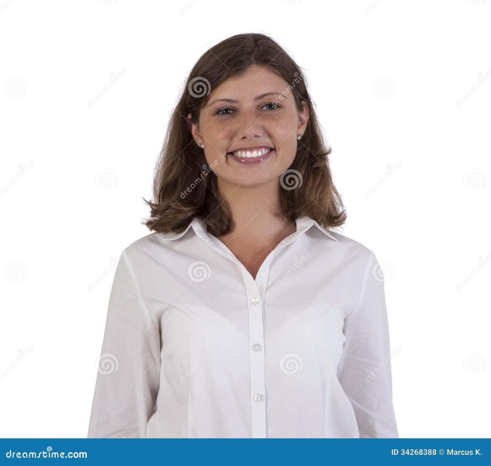 Πορτρέτο ενός χαμογελώντας επιχειρησιακού θηλυκού