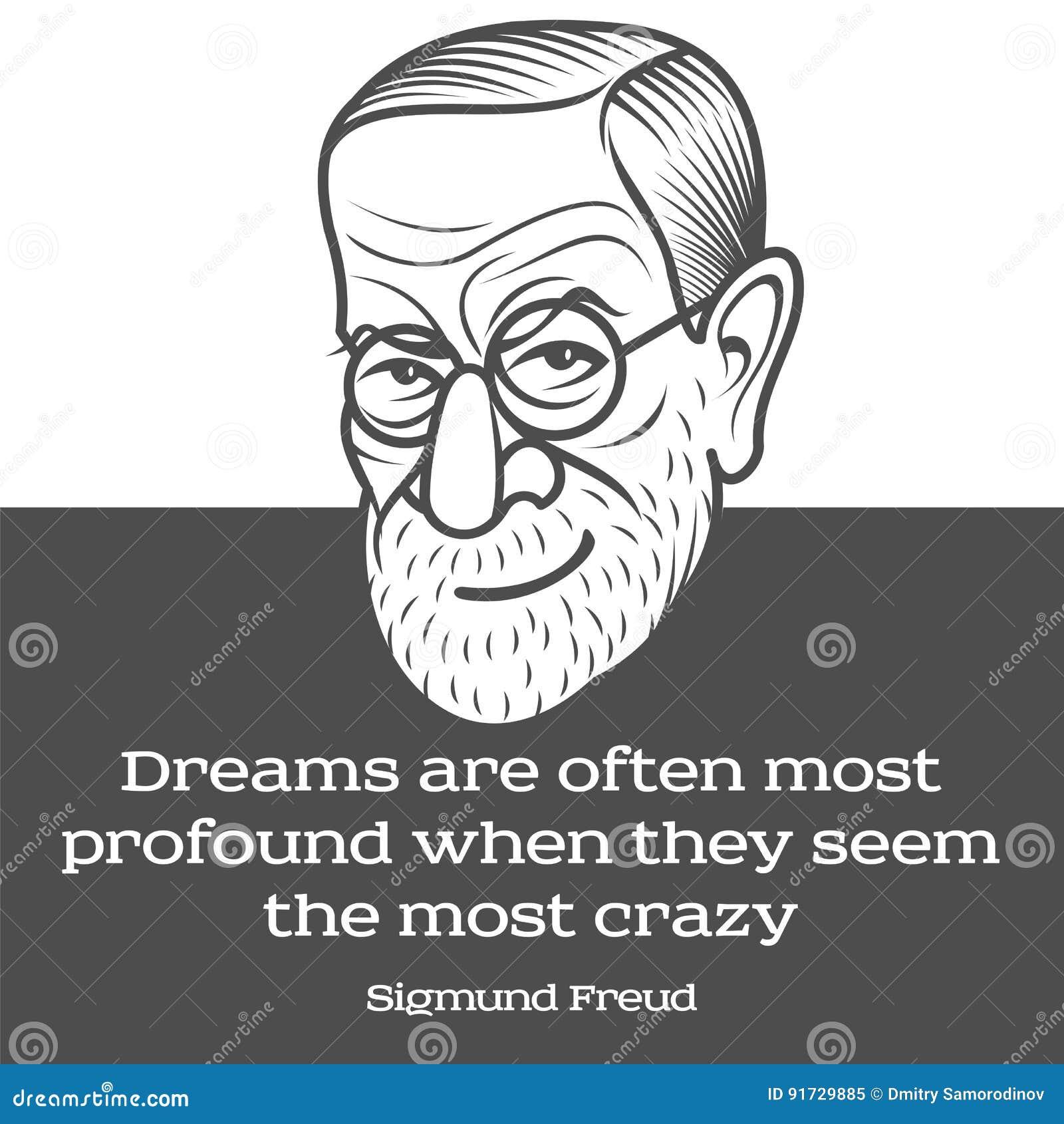 Πορτρέτο καρικατουρών κινούμενων σχεδίων Sigmund Freud