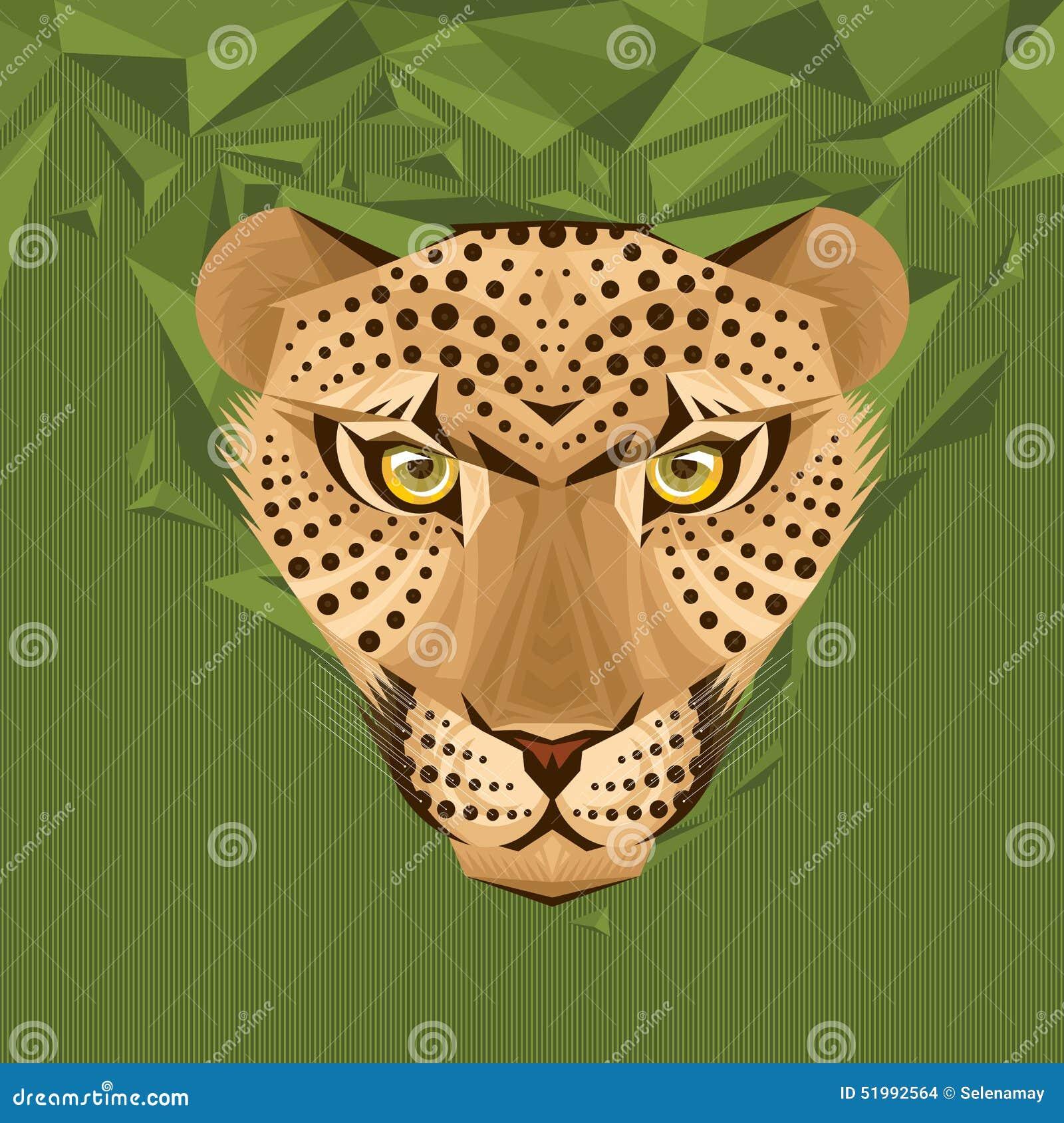 Πορτρέτο μιας διανυσματικής απεικόνισης λεοπαρδάλεων