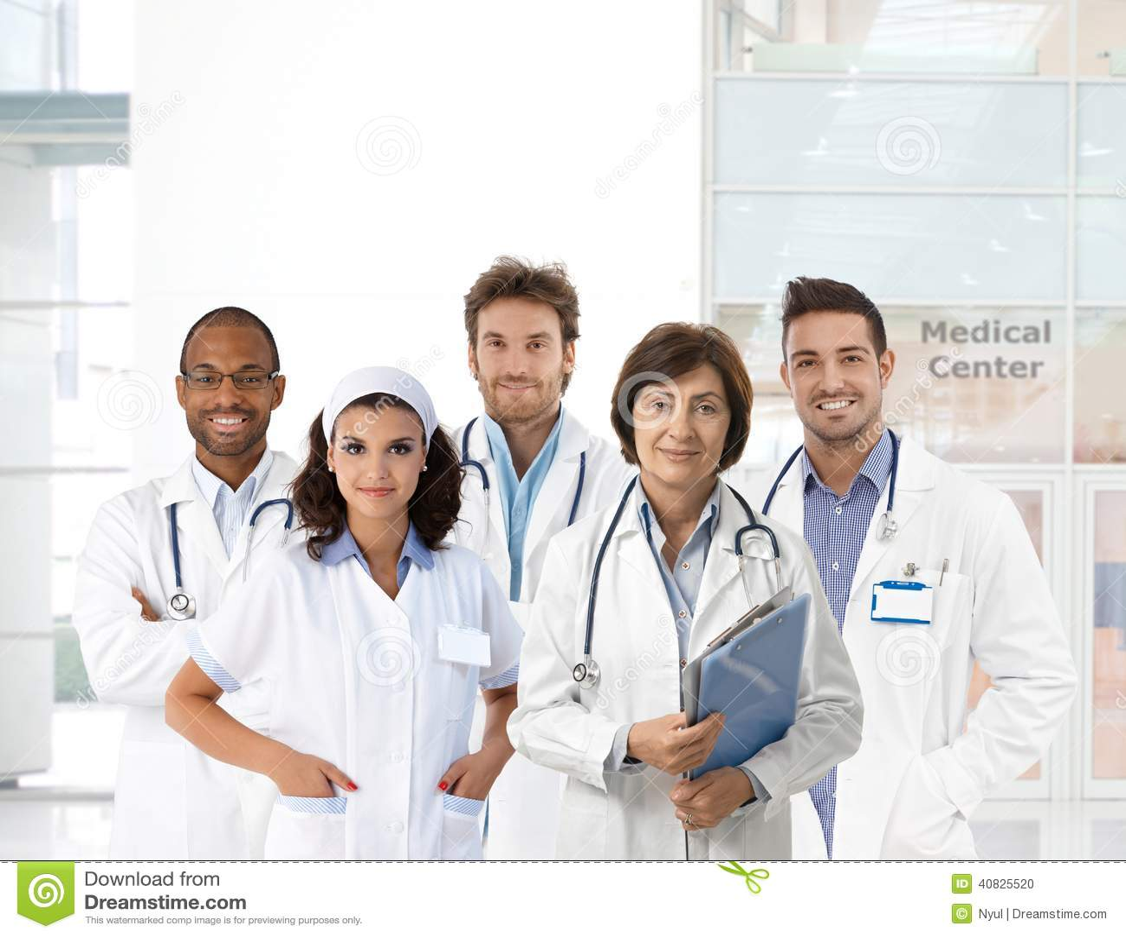 Πορτρέτο ομάδας του ιατρικού προσωπικού στην κλινική