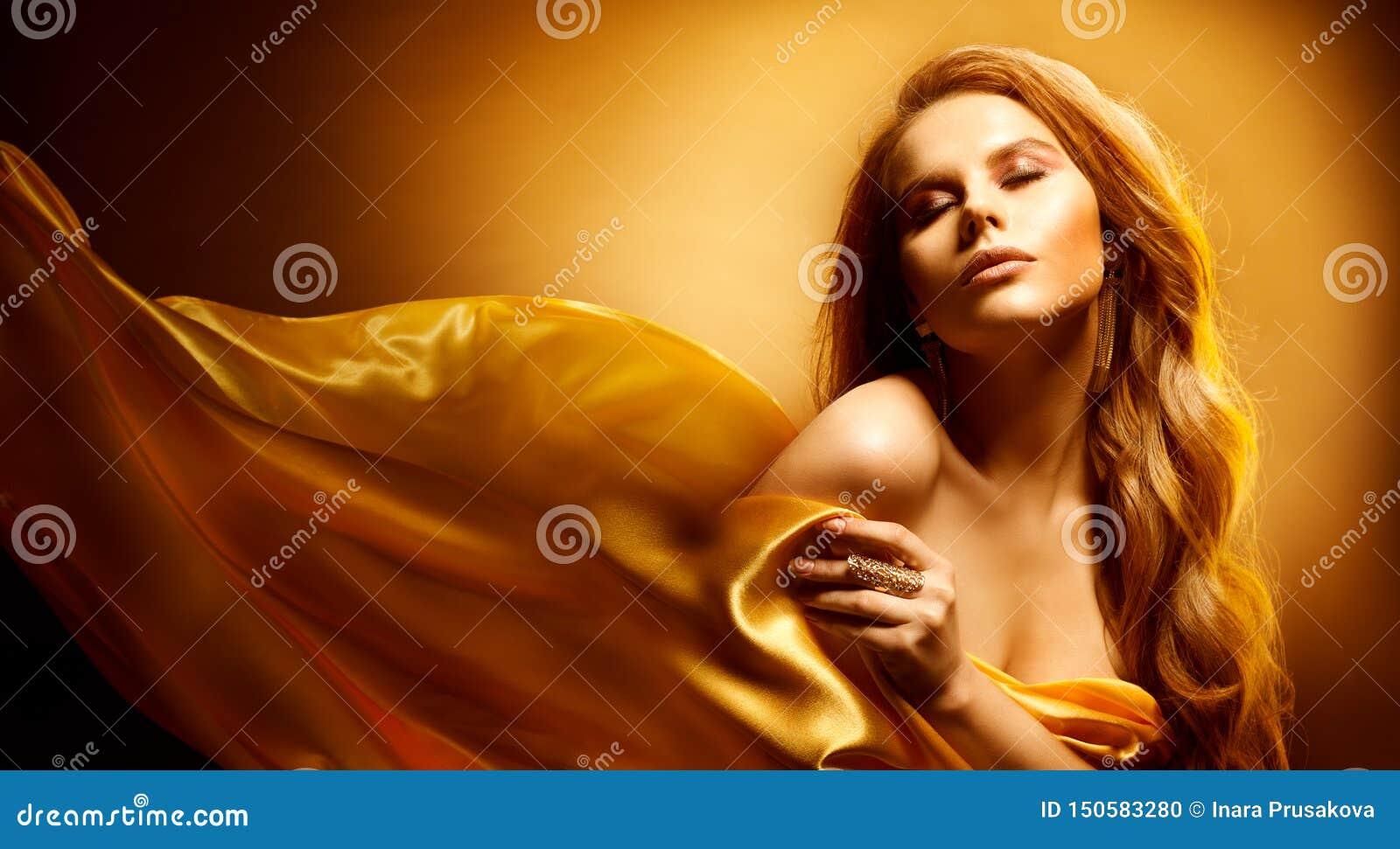 Πορτρέτο ομορφιάς, πρότυπη, όμορφη εκφραστική γυναίκα μόδας γοητείας