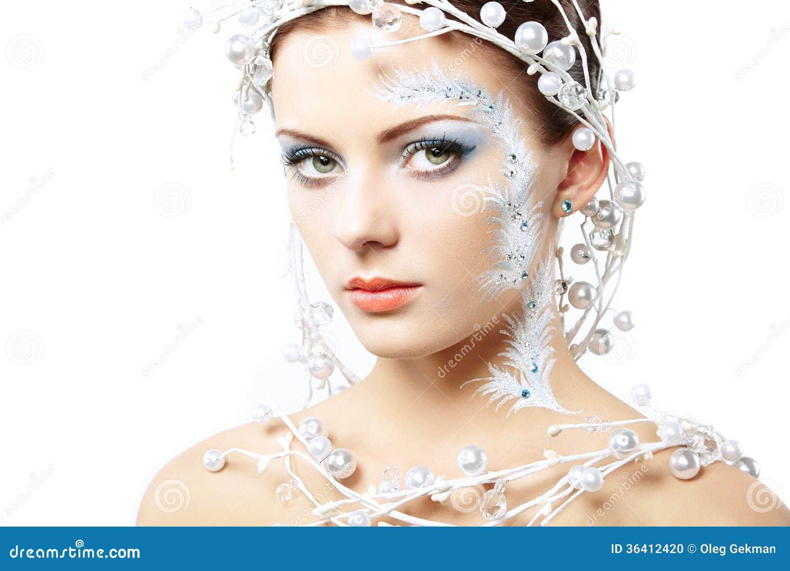Πορτρέτο των χειμερινών γυναικών ομορφιάς