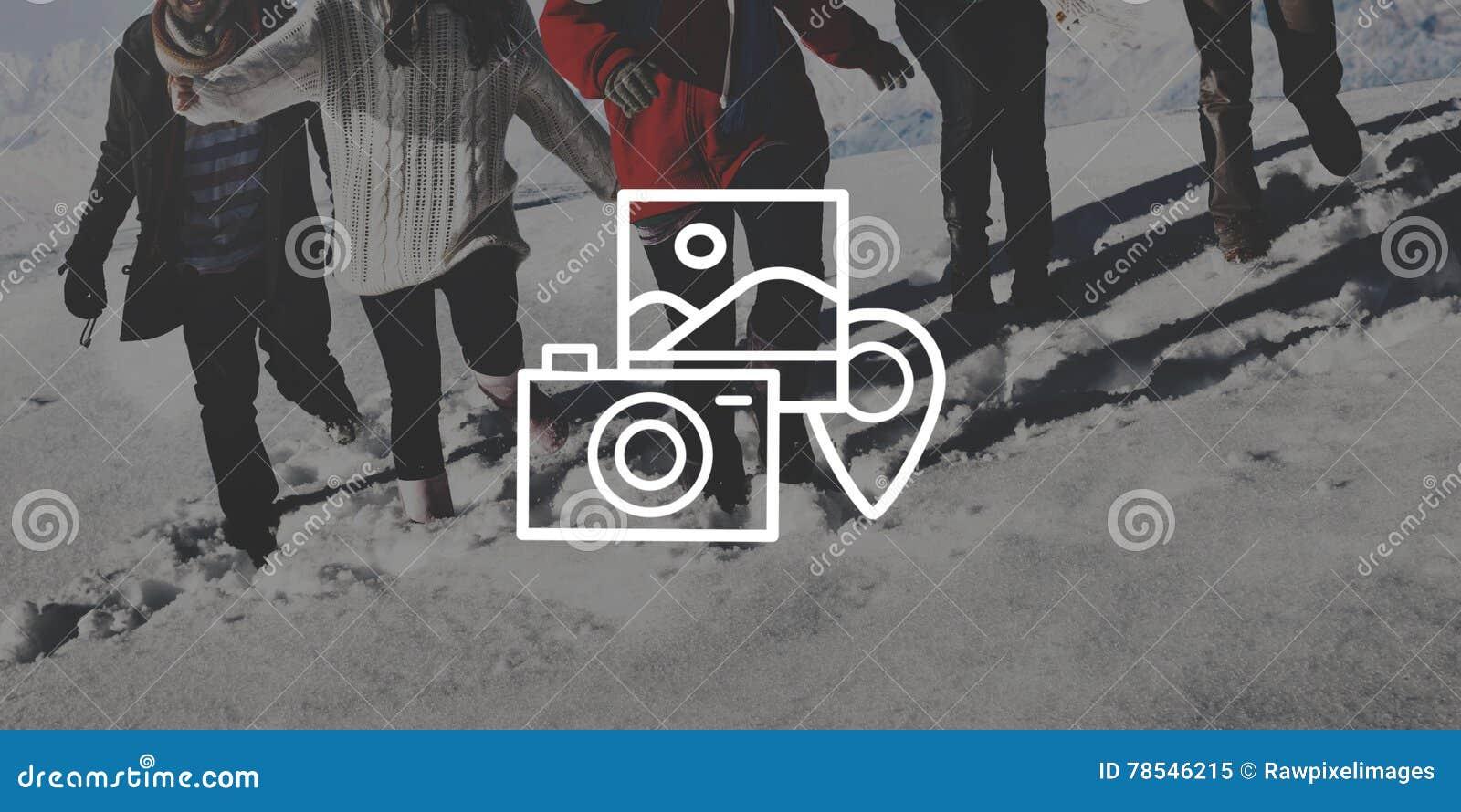Πορτρέτο φωτογραφιών καμερών φωτογραφίας που φωτογραφίζει την έννοια