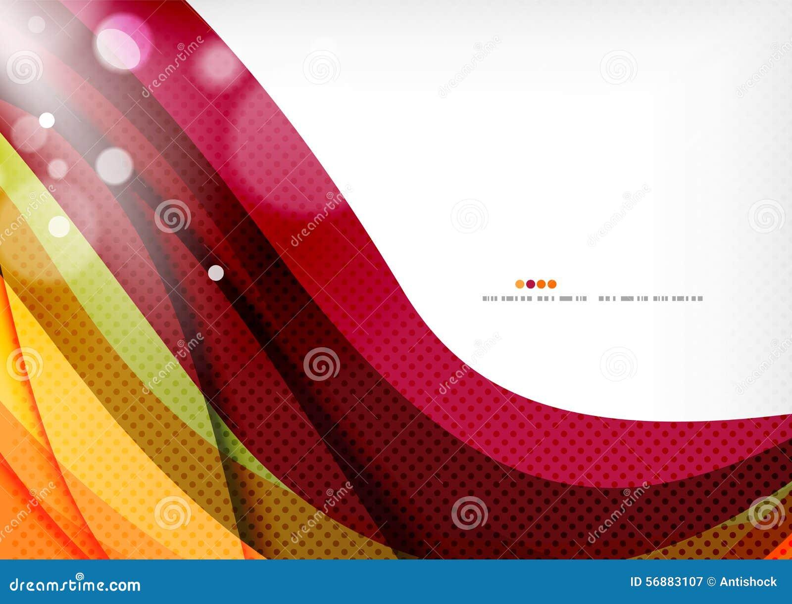 Πορφυρές και πορτοκαλιές γραμμές χρώματος
